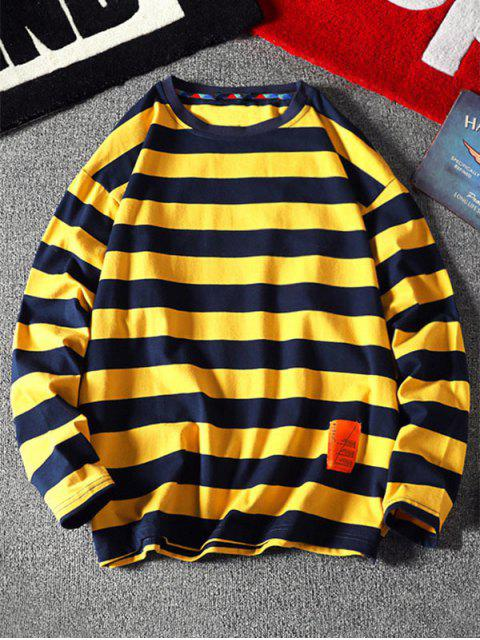 條紋圖案設計信套頭衫 - 蜜蜂黃色 2XL Mobile
