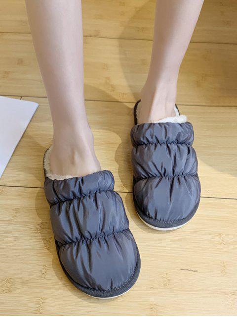 A prueba de agua zapatos planos de cubierta de tela acanalada - Gris EU 39 Mobile