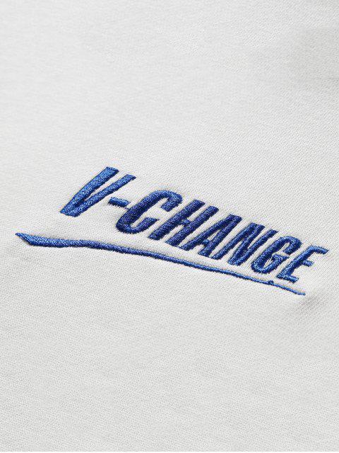 V Lounge Grafik Lounge Kordelzug Hoodie - Weiß 3XL Mobile