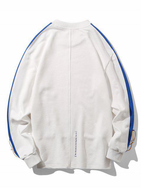郵編口音字母文本上的肩運動衫 - 白色 M Mobile