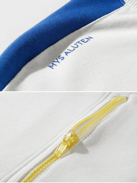 郵編口音字母文本上的肩運動衫 - 白色 XL Mobile
