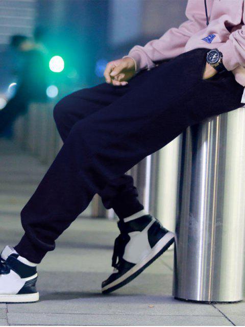 unique Solid Color Fuzzy Jogger Pants - CADETBLUE 2XL Mobile