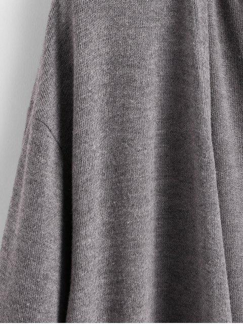 ZAFUL Langline Dual Taschen Cardigan - Aschgrau L Mobile