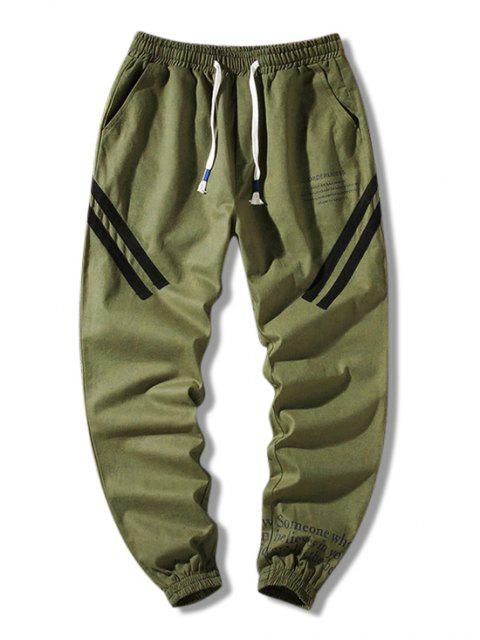 信圖形打印休閒褲 - 軍綠色 2XL Mobile