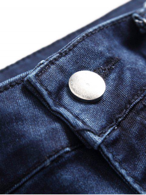 Lässige reißverschlusstasche Reißverschluss Jeans - Denim Dunkelblau 42 Mobile