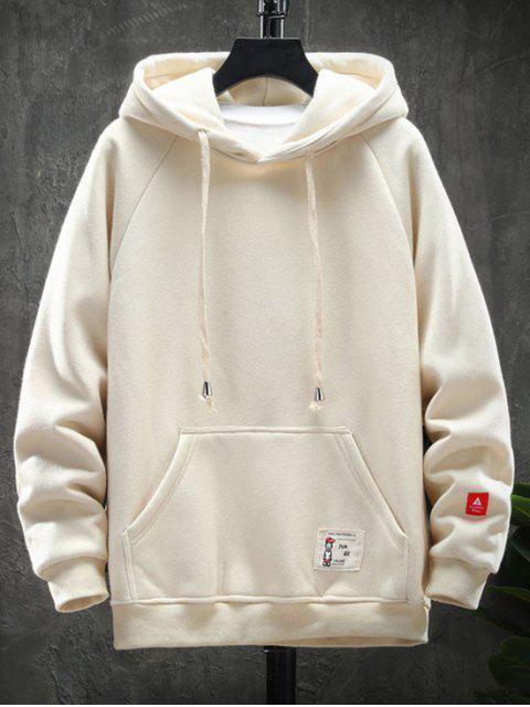 Grafik Buchstabe Muster Taschen Design Hoodie - Beige 4XL Mobile