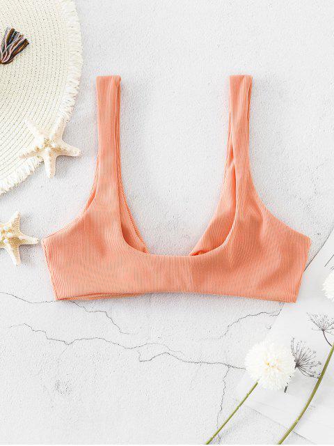 ZAFUL Conjunto de Bikini Hundido Acanalado - Mandarina L Mobile