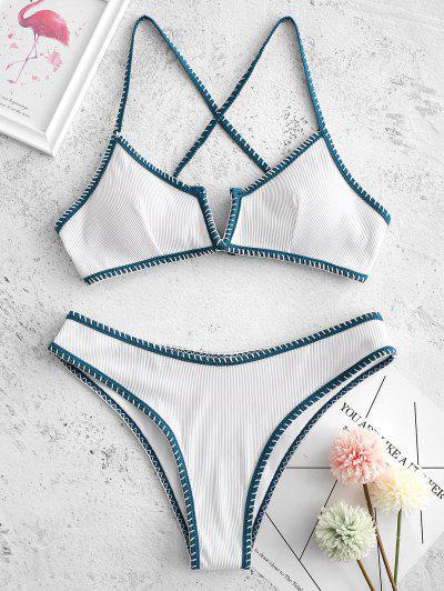 ZAFUL Bikini A Coste Con Ferretto A V - Bianca S