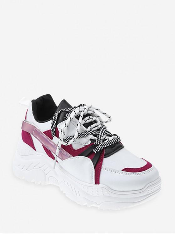 สีผสมวัสดุปิดกั้นแพลตฟอร์มรองเท้าผ้าใบ - ลาวาสีแดง EU 37