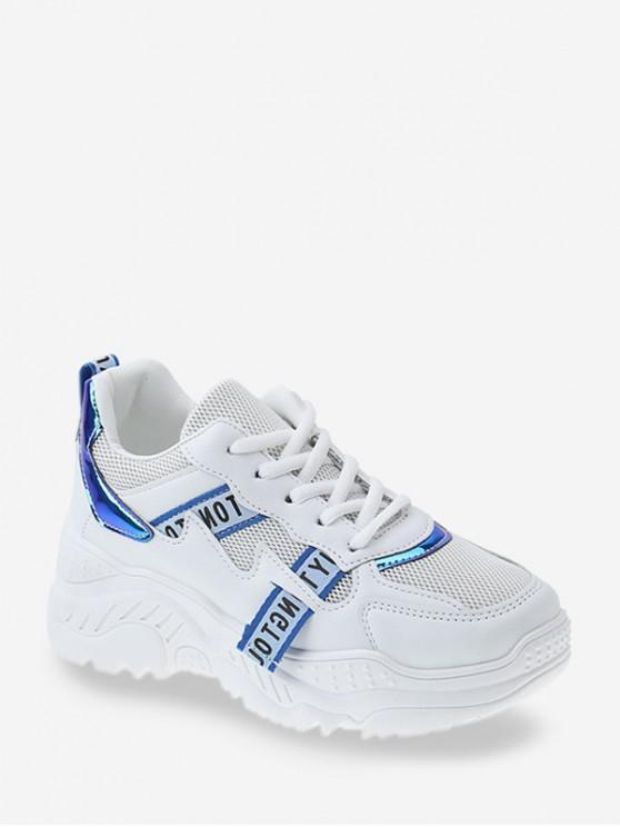 เลเซอร์แผงระบายอากาศพ่อรองเท้าผ้าใบ - สีน้ำเงิน EU 41