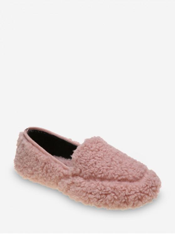 休閒純色模糊滑鞋 - 淺粉色 歐盟37
