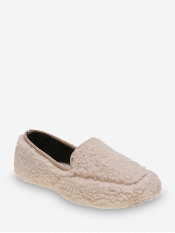 休閒純色模糊滑鞋 - 米色 歐盟37