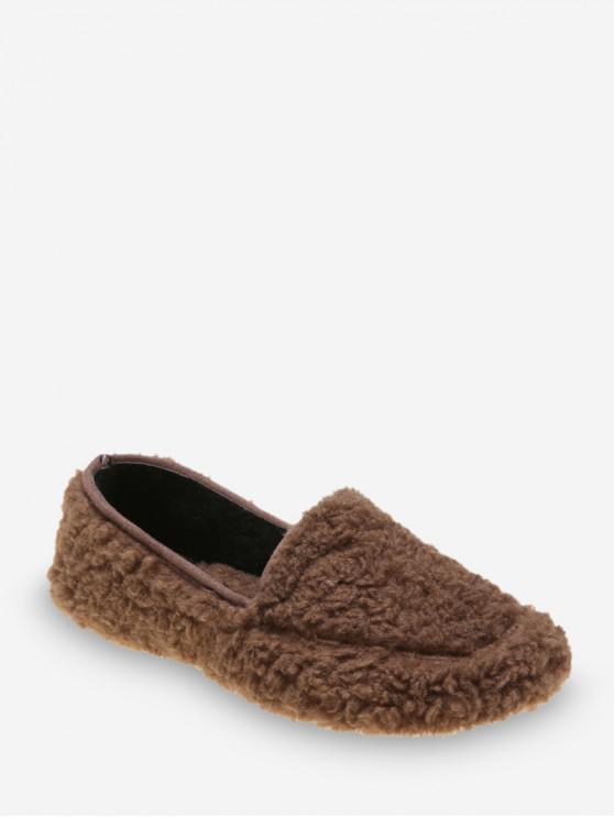 休閒純色模糊滑鞋 - 棕色 歐盟37