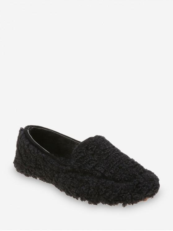 休閒純色模糊滑鞋 - 黑色 歐盟37