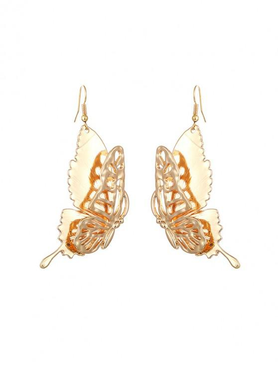 new Metallic Hollow Butterfly Earrings - GOLD