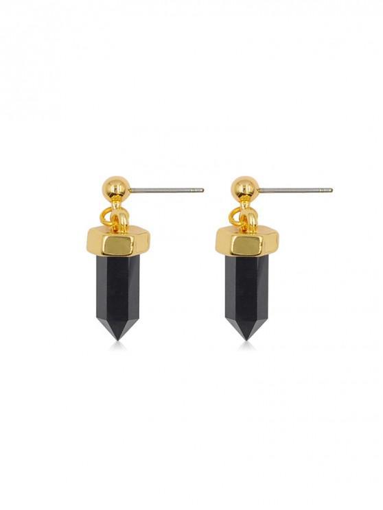 shop Geometric Hexagonal Stud Drop Earrings - GOLD