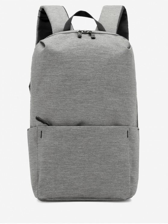 trendy Plain Lightweight Nylon Travel Backpack - BATTLESHIP GRAY