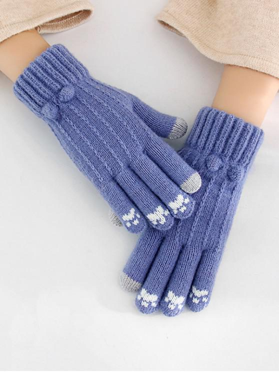 hot Cycling Solid Pattern Winter Gloves - COBALT BLUE
