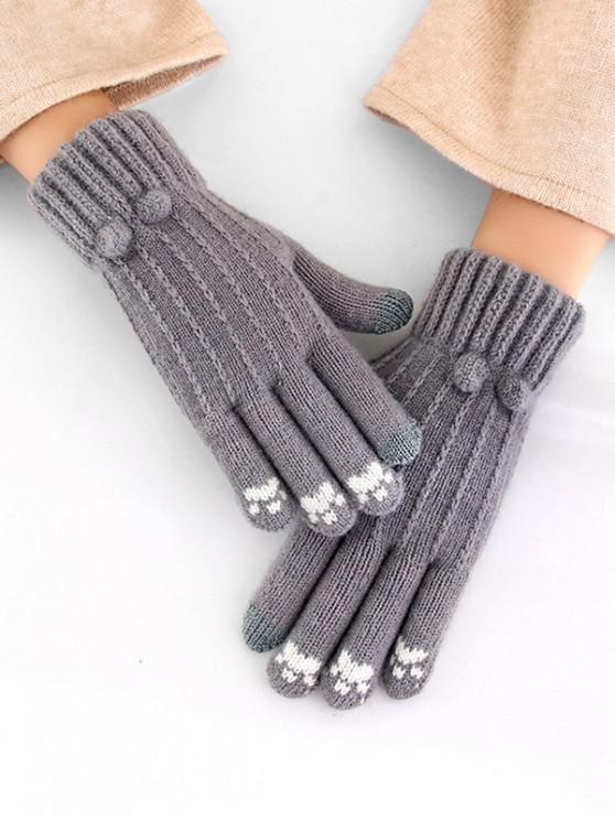 buy Cycling Solid Pattern Winter Gloves - DARK GRAY