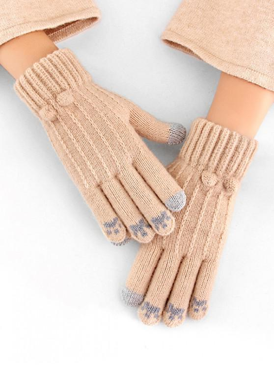 outfit Cycling Solid Pattern Winter Gloves - APRICOT