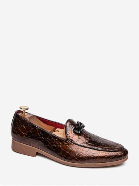 С бантом Животная Рельефная Обувь Без шнуровки - Коричневый ЕС 45