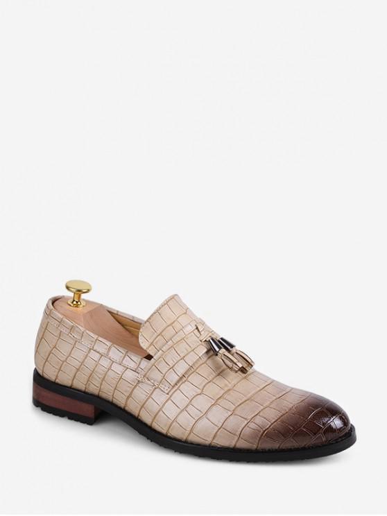 online Fringe Accent Animal Embossed Slip On Work Shoes - BEIGE EU 43
