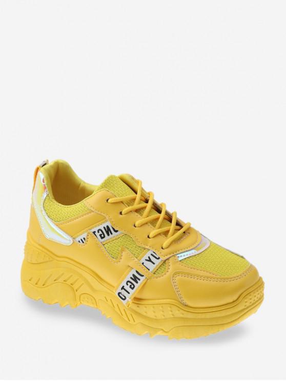 เลเซอร์แผงระบายอากาศพ่อรองเท้าผ้าใบ - สีเหลือง EU 41