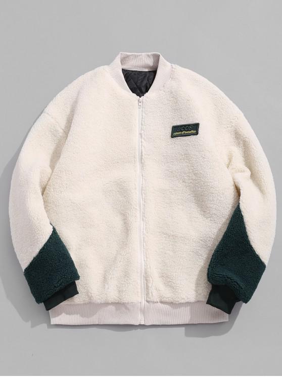 信繡蓬鬆棉襖 - 白色 M