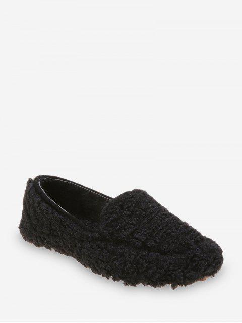 Без шнуровки Повседневные Одноцветные Пушистый Туфли - Чёрный ЕС 37 Mobile