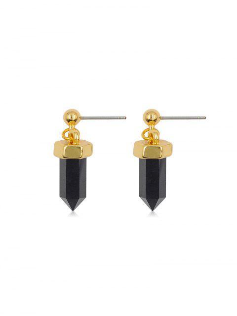 Geometrische Hexagonal-Bolzen-Tropfen-Ohrringe - Gold  Mobile