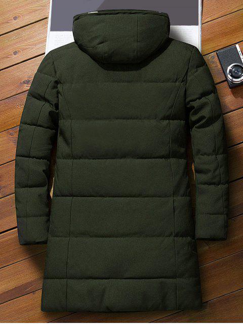 信圖標圖案連帽棉衣 - 軍綠色 M Mobile