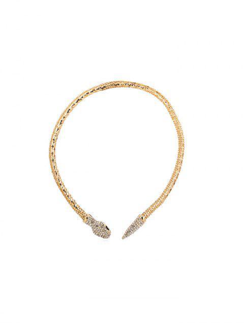 蛇形項鍊水鑽 - 金  Mobile