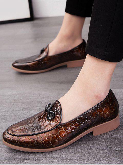 蝴蝶結的動物壓紋防滑工作鞋 - 棕色 歐盟42 Mobile