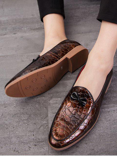 蝴蝶結的動物壓紋防滑工作鞋 - 棕色 歐盟39 Mobile
