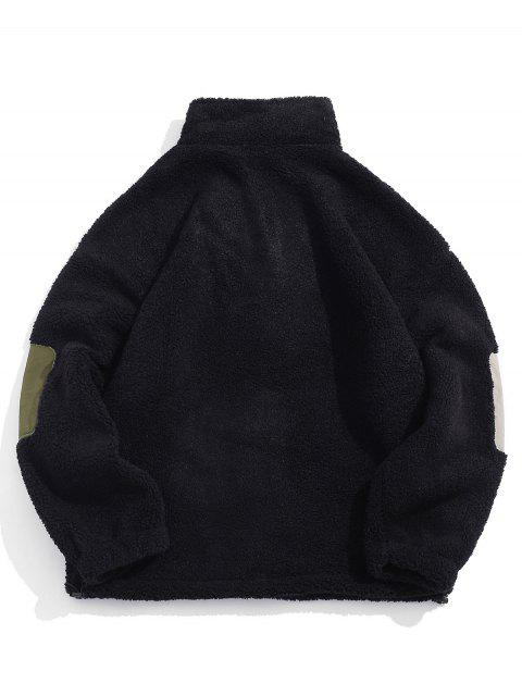 中國信繡蓬鬆夾克 - 黑色 2XL Mobile