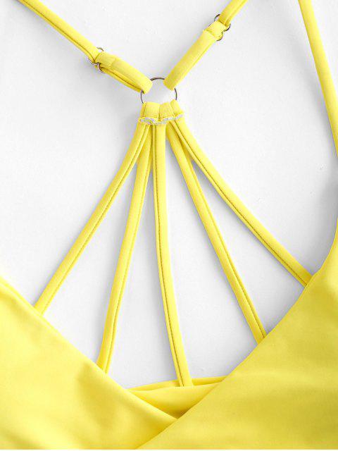 ZAFUL Bikini Top con Tiras Cruzadas - Amarillo S Mobile
