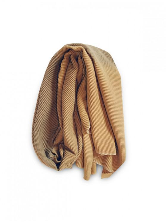 outfit Gradient Striped Crinkle Long Scarf - GOLDENROD