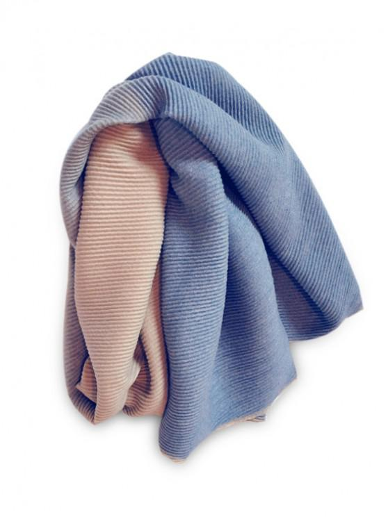 shop Gradient Striped Crinkle Long Scarf - BLUE GRAY