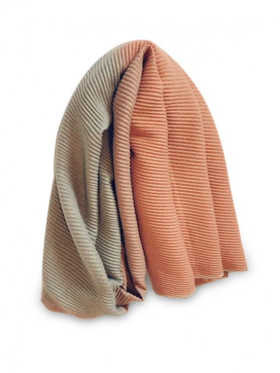 affordable Gradient Striped Crinkle Long Scarf - TANGERINE