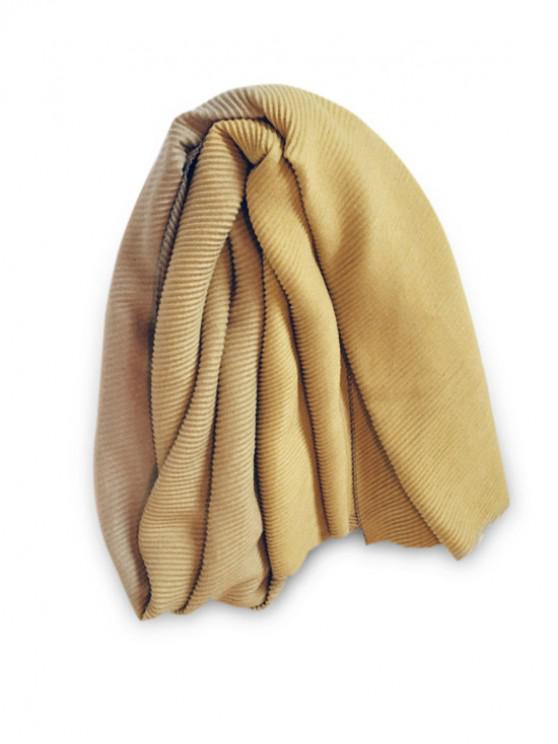 outfit Gradient Striped Crinkle Long Scarf - YELLOW