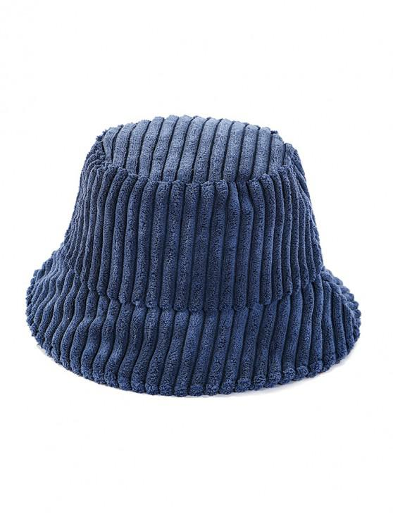 outfit Corduroy Striped Bucket Hat - CADETBLUE