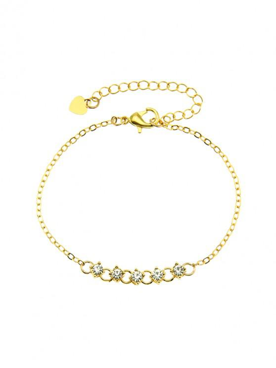 outfits Brief Rhinestone Chain Bracelet - GOLD