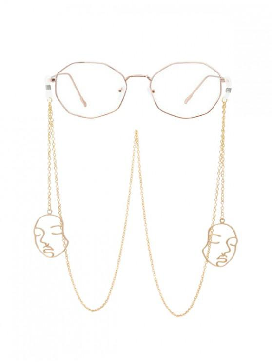 best Chain Hollow Face Sunglasses Lanyard - GOLD