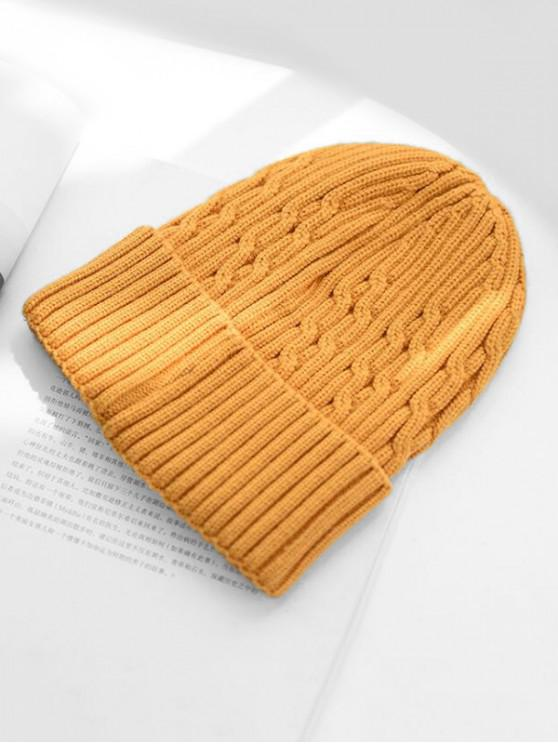 outfit Knitted Winter Hat - YELLOW