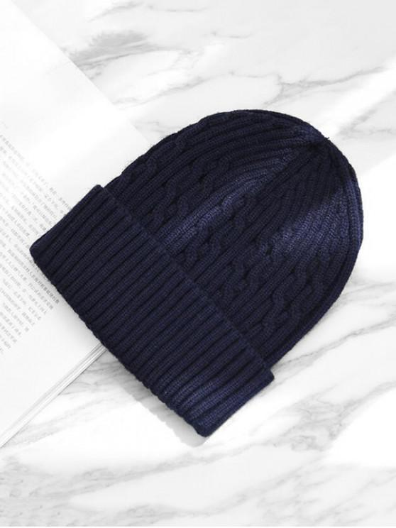 chic Knitted Winter Hat - CADETBLUE