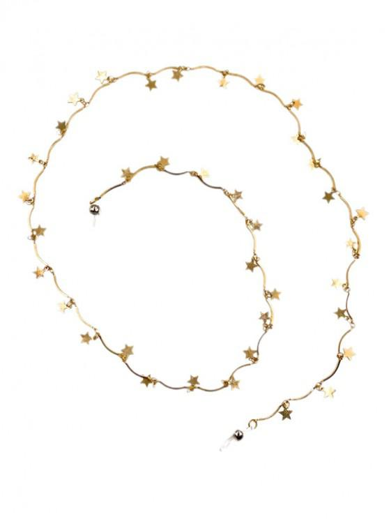 sale Alloy Stars Pendant Sunglasses Lanyard - GOLD