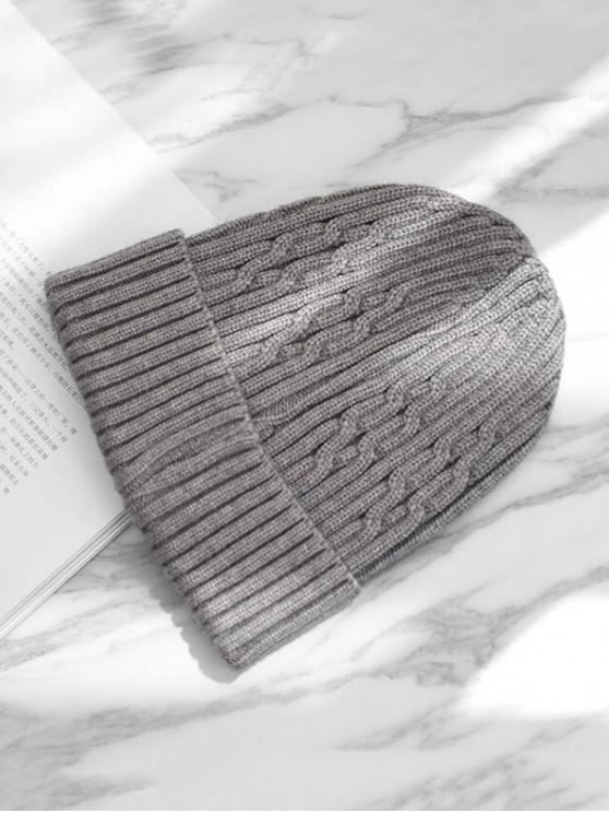 ถักหมวกฤดูหนาว - สีเทา