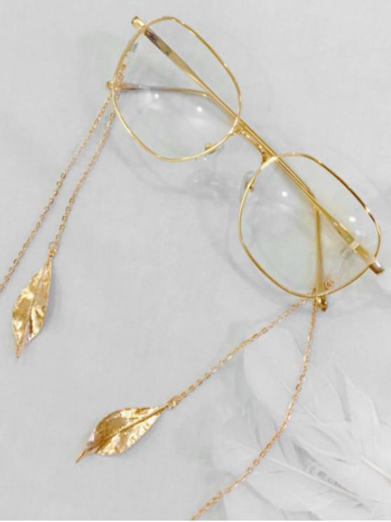womens Alloy Leaf Shape Sunglasses Lanyard - GOLD
