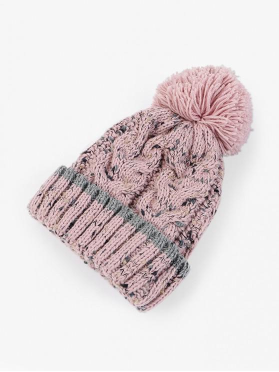 unique Thick Winter Bobble Woolen Yarn Hat - PINK