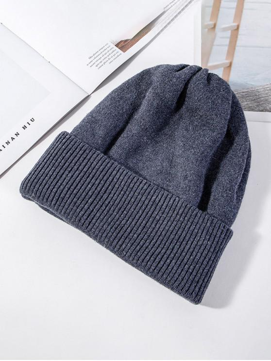 best Solid Knitted Elastic Winter Hat - GRAY